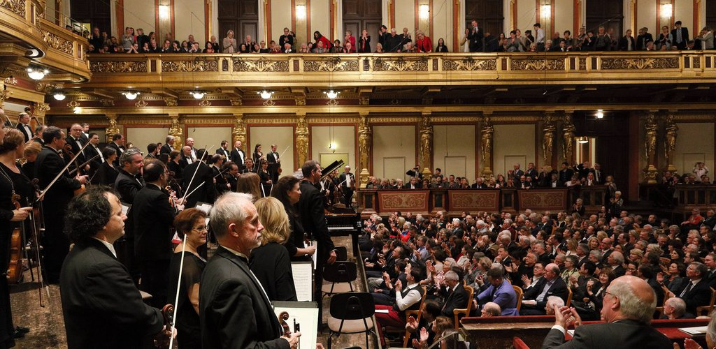 """Completely stunned"": concert-goers seated on the stage at the Festival Orchestra's concert in Vienna"